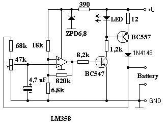Napelemes akkumulátor töltő kapcsolási rajz